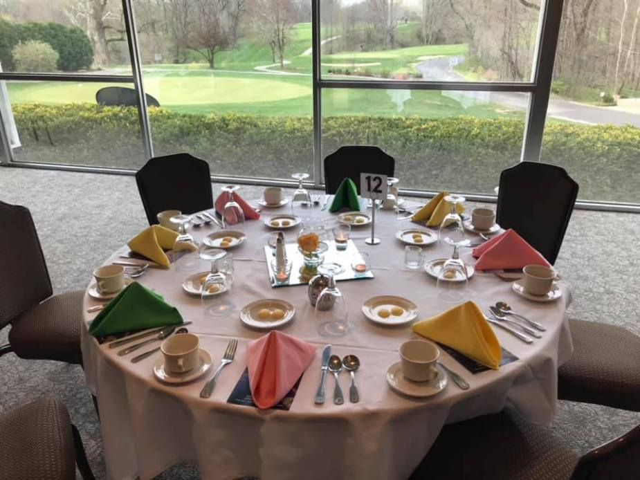table setting spring luncheon 2019