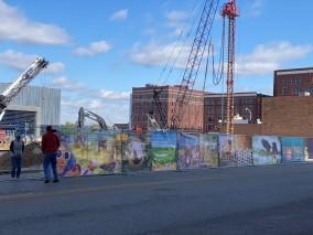 fence mural installation