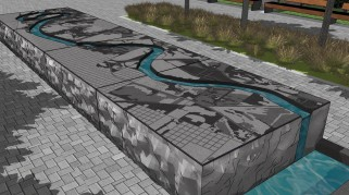 The new artwork celebrates Terre Haute's relationship with the river and offers tactile qualities as well.